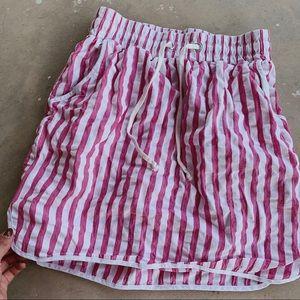 UO Cotton pink pinstripe skirt